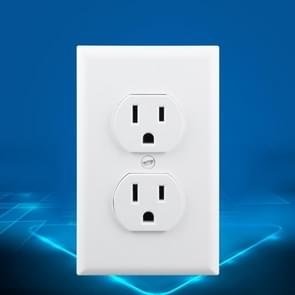 PC Double-connection Power Socket Switch, US Plug, Round White UL 20A Double Plug