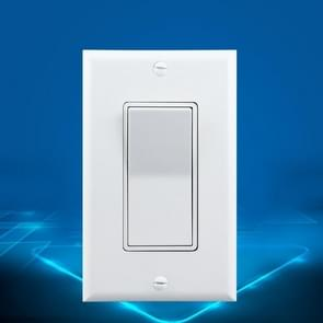 PC Double-connection Power Socket Switch, US Plug, Square White UL Single Control