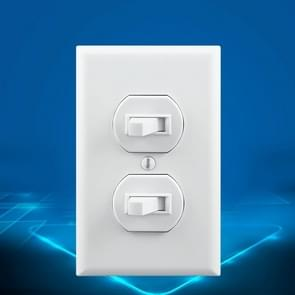 PC Double-connection Power Socket Switch with USB, US Plug, Square White UL 15A Double Plug