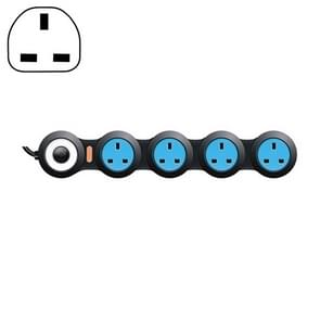 Oplaad plug-in bedradings bord Creative Rotary Towline Board 13A vervormd stopcontact, UK plug, 4-bit socket (zwart)