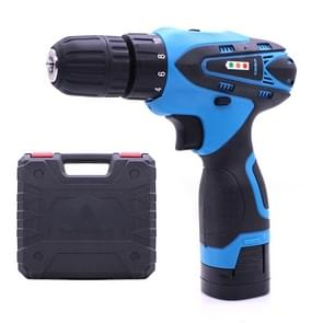 VOTO 16.8V Stepless Speed Regulation Rechargeable Hand Drill Set Electric Drill Power Tools with LED Light, AC 220V, US Plug, Random Color Delivery