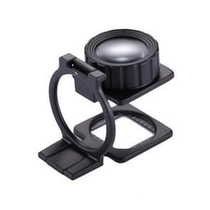 20 X opvouwbaar metalen Dual Lens Vergrootglas  zwarte verf Bureau tafel Mount Vergrootglas