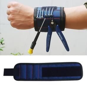 1680D Oxford Cloth Pocket Magnetic Wristband Storage Pockets Tool(Blue)