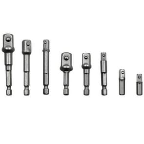 8 PCS/Set Socket Bit Extension Bar Hex Shank Adapter Drill Nut Driver Power Drill Bit, 1/4(65/50/30/25mm), 3/8(65/50mm), 1/2(73/50mm)