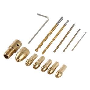 WLXY WL-DIY001 Mini DIY Brass elektrische boor Chucks boor Bits Set