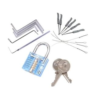 17 in 1 Locksmith Tools Practice Transparent Lock Kit, Random Color Delivery