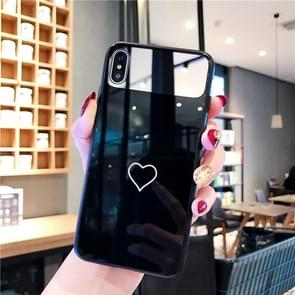 Glass Protective Case For iPhone 8 Plus & 7 Plus(Black)