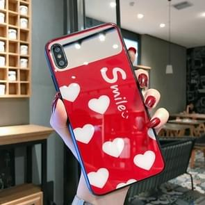 Glass Protective Case For iPhone 8 Plus & 7 Plus(Red)