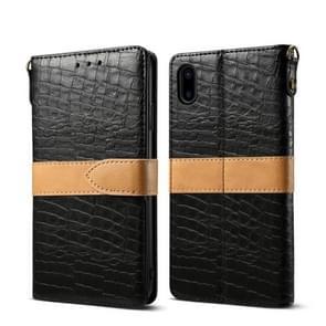 Lederen beschermhoes voor iPhone X & XS (zwart)
