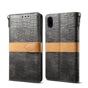 Lederen beschermhoes voor iPhone X & XS (grijs)