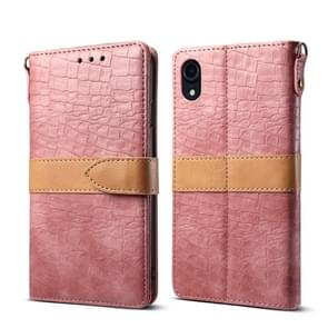 Leather Protective Case For iPhone XR(Pink)