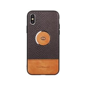 Leather Protective Case For iPhone X & XS(Black)