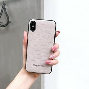 Leather Protective Case For iPhone XR(White)
