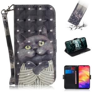 3D gekleurde tekening horizontale Flip lederen draagtas met houder & kaartsleuven & portemonnee voor Huawei mate 20 X (Embrace kat)