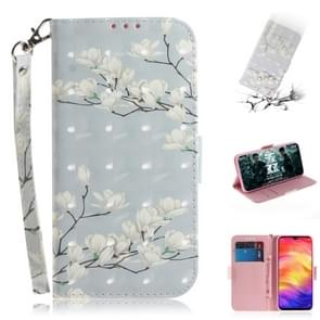 3D Coloured Drawing Horizontal Flip Leather Case with Holder & Card Slots & Wallet For Galaxy S10 Plus(Magnolia)