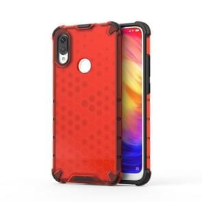 Shockproof Honeycomb PC +TPU protective For Redmi Note 7(Red)