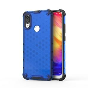 Shockproof Honeycomb PC +TPU protective For Redmi Note 7(Blue)