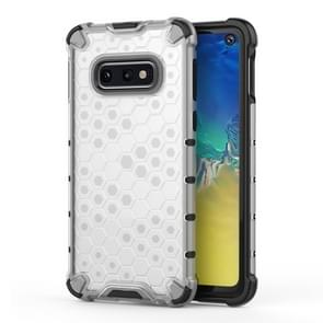 Shockproof Honeycomb PC+TPU Protective Case for Galaxy S10e(White)