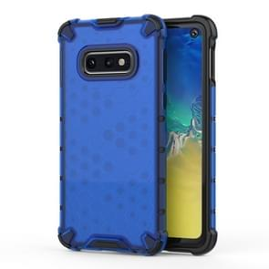 Shockproof Honeycomb PC+TPU Protective Case for Galaxy S10e(Blue)