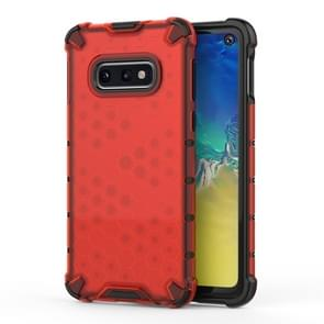 Shockproof Honeycomb PC+TPU Protective Case for Galaxy S10e(Red)