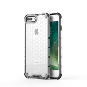 Shockproof Honeycomb PC+TPU Protective Case for iPhone 8 Plus & 7 Plus(White)