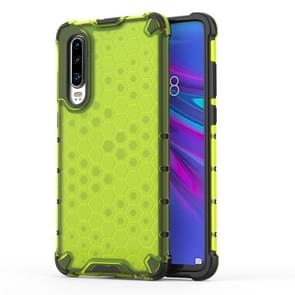 Shockproof Honeycomb PC + TPU Protective Case For Huawei P30(Green)