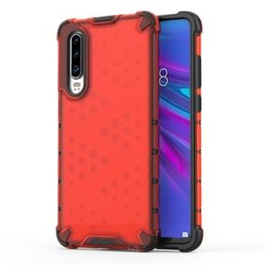 Shockproof Honeycomb PC + TPU Protective Case For Huawei P30(Red)