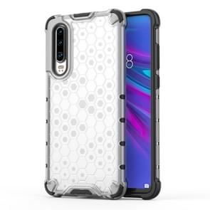 Shockproof Honeycomb PC + TPU Protective Case For Huawei P30 Lite(White)