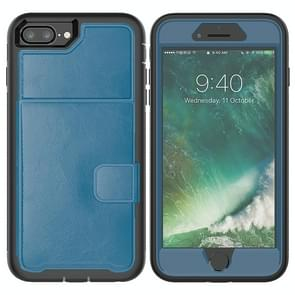 Leather Protective Case with Holder & Card Slot For Galaxy S10 Plus(Blue)