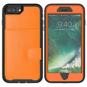 Leather Protective Case with Holder & Card Slot For Galaxy S10 Plus(Orange)