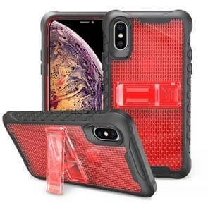 Football patternsilicone case with holder For Galaxy S10(Red)