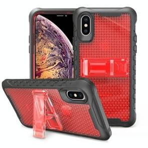 Football patternsilicone case with holder For Galaxy S10 Plus(Red)