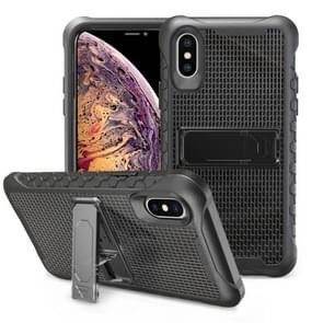 Football patternsilicone case with holder For Galaxy S10e(Black)