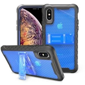 Football patternsilicone case with holder For Galaxy S10e(Blue)