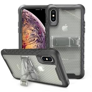 Football patternsilicone case with holder For Galaxy S10e(Gray)