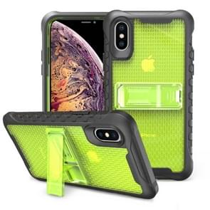 Football patternsilicone case with holder For Galaxy S10e(Green)