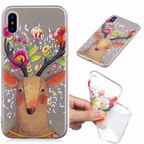 Painted TPU Protective Case For Huawei P30(Flower Deer)