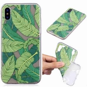 Geschilderde TPU beschermende case voor Galaxy S10 (Banana Leaf patroon)