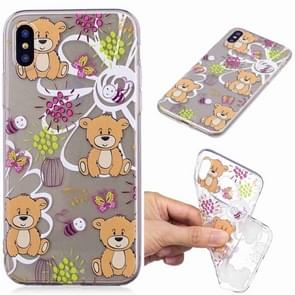 Painted TPU Protective Case For Galaxy S10 Plus(Brown Bear Pattern)