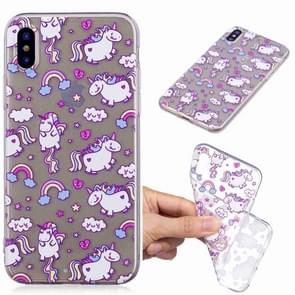 Painted TPU Protective Case For Galaxy S10e(Bobi Horse Pattern)