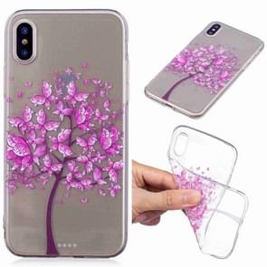 Painted TPU Protective Case For Galaxy S10e(Butterfly Tree Pattern)