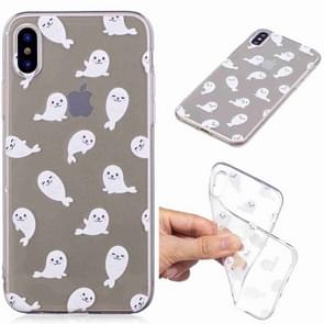 Painted TPU Protective Case For Galaxy S10e(White Sea Lion Pattern)