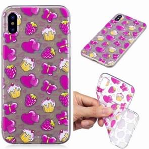 Painted TPU Protective Case For Galaxy S10e(Strawberry Cake Pattern)