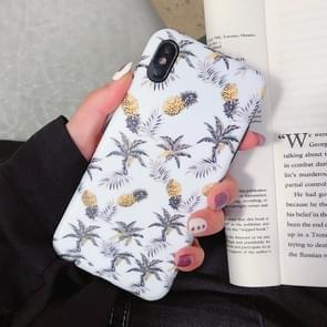 Mode TPU beschermende case voor iPhone XS Max (meerdere ananas patroon)