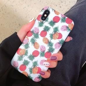 Mode TPU beschermende case voor iPhone XS Max (kleur ananas patroon)