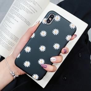 Mode TPU beschermende case voor iPhone XS Max (chrysant patroon)
