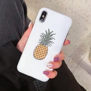 Mode TPU beschermhoes voor iPhone XR (ananas patroon)