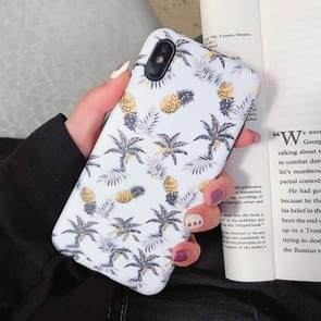 Mode TPU beschermende case voor iPhone XR (meerdere ananas patroon)