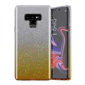 Gradual Shining Flash Sequins Glitter TPU+PC Protective Case For Galaxy S9(Gradual Golden)