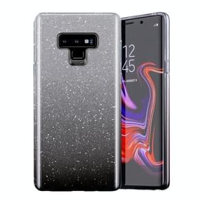 Gradual Shining Flash Sequins Glitter TPU+PC Protective Case For Galaxy S9(Gradual Black)